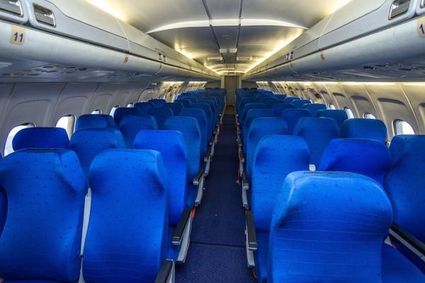 Салон самолёта Ту 154