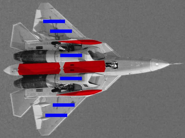 ПАК ФА Т 50 схема двигателей