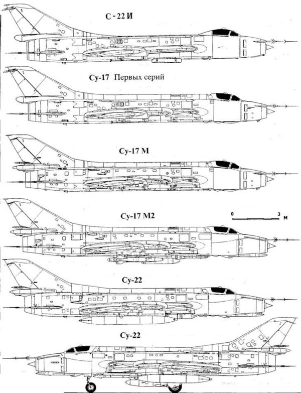 Конструкция Су-22, Су-17