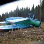 Ан-2 перевернулся при посадке под Ивделем