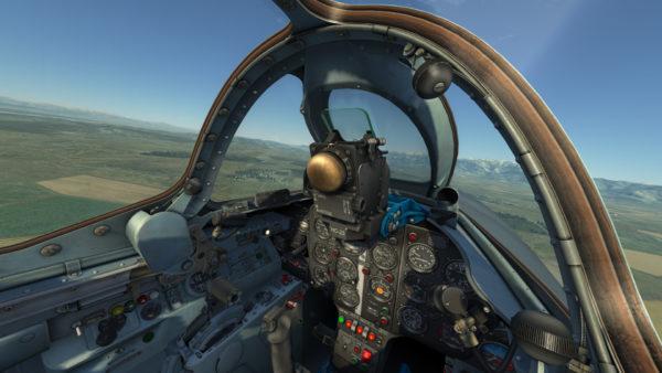 Кабина пилота МиГ-15