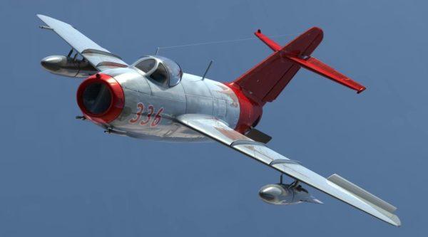 МиГ-15 в небе