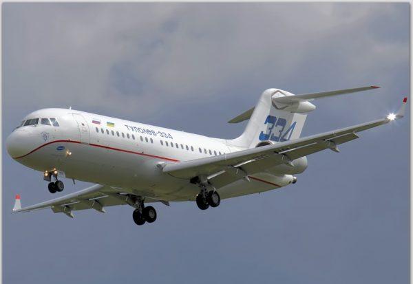 Ту-334 в небе