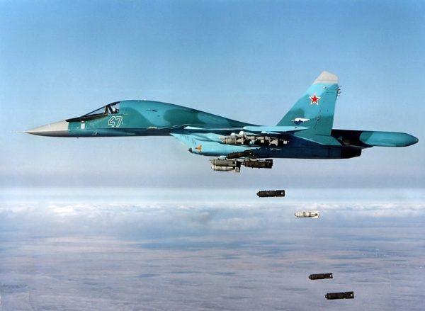Сброс бомб Су-34