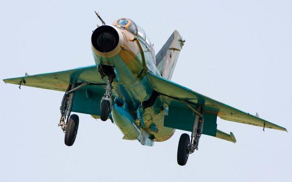 Посадка МиГ-21